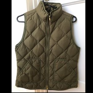 J. Crew quilted vest in olive